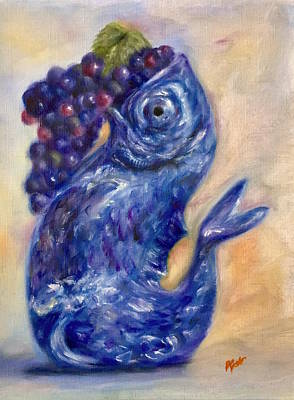 Painting - Blue Fish by Dr Pat Gehr