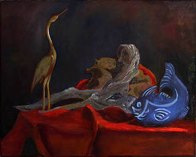Painting - Blue Fish by Libby  Cagle