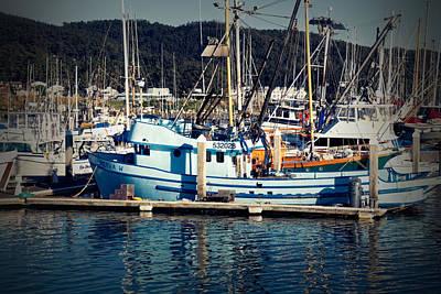 Photograph - Blue Fishing Boat by Scott Hill