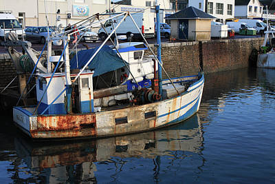 Photograph - Blue Fishing Trawler by Aidan Moran
