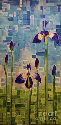 Painting - Blue Flags by Donna Howard
