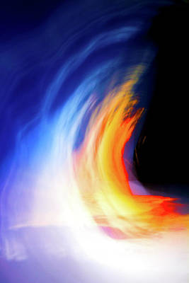 Photograph - Blue Flame Sunset by Mark Andrew Thomas