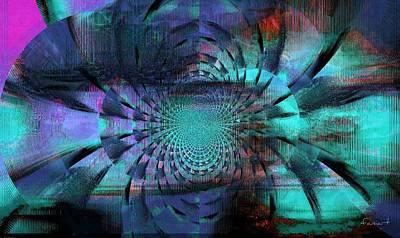Blue Fleur Art Print by Fania Simon