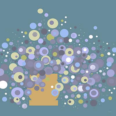 Digital Art - Blue Flora  by Val Arie