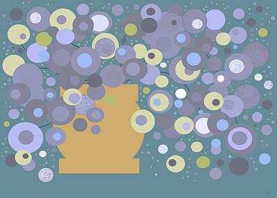 Digital Art - Blue Flora - Whimsical Flowers by Val Arie