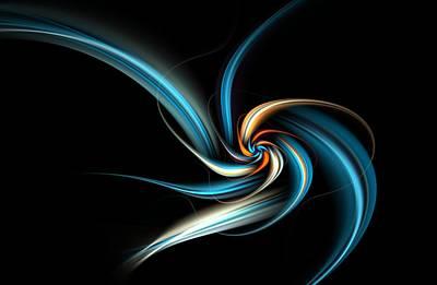 Digital Art - Blue Floral Fractal by David Lane