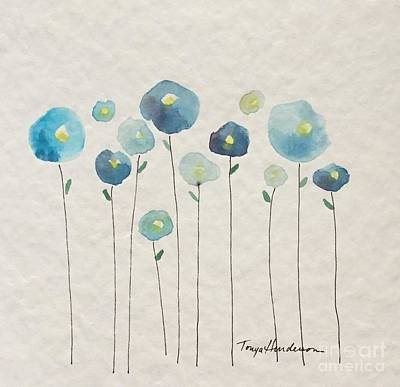 Painting - Blue Floral by Tonya Henderson