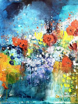Painting - Blue Floral by Wendy Mcwilliams