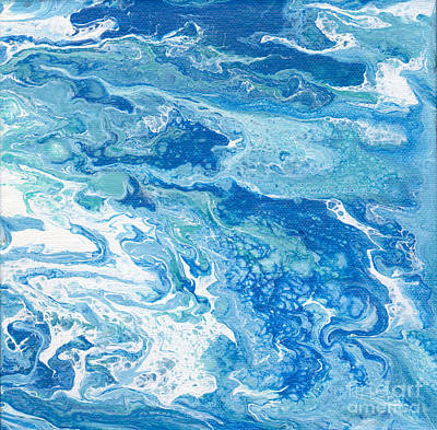 Painting - Blue Flow Acrylic I by Patricia Cleasby