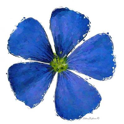 Mixed Media - Blue Flower by Anthony Fishburne