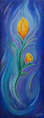 Painting - Blue Flower by Brian Nunes