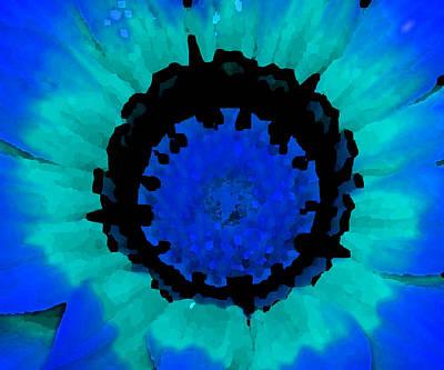 Fotography Digital Art - Blue Flower by Diana Maria Parra