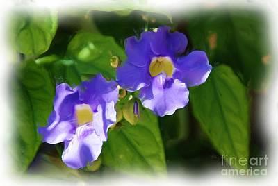 Painting - Blue Flower by Jan Daniels