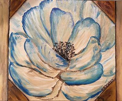 Painting - Blue Flower Painting For Sale by Dottie Phelps Visker