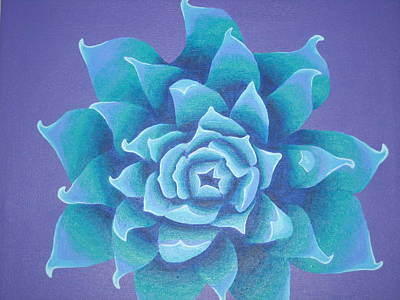 Rocca Painting - Blue Flower by Sarah England-Rocca