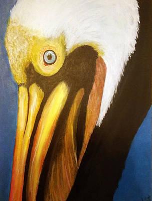 The Pelican Alabama Fauna Original by Teresa Hay