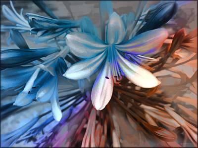 Blue Flowers  Original by Daniel  Arrhakis