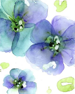 Painting - Blue Flowers by Dawn Derman
