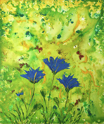 Painting - Blue Flowers by Erik Tanghe