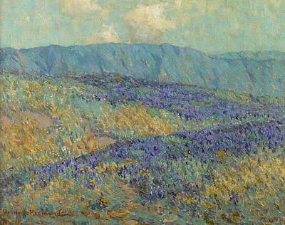 Blue Flowers Art Print by Granville Redmond