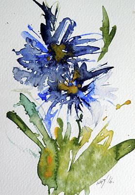 Blue Flowers Art Print by Kovacs Anna Brigitta