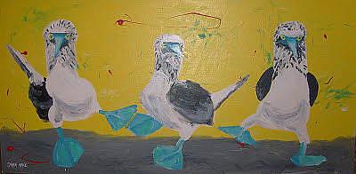 Painting - Blue Footed Boobies by Sarah LaRose Kane