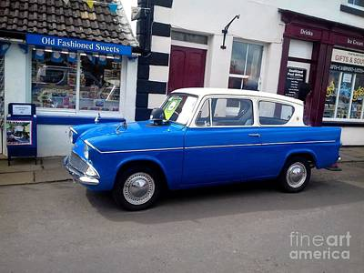 Photograph - Blue Ford Anglia by Joan-Violet Stretch