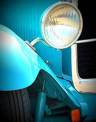 Photograph - Blue Ford Fender by Kimberly-Ann Talbert