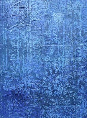 Mixed Media - Blue Forest #3 by Janyce Boynton