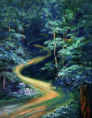Painting - Blue Forest by Gina De Gorna