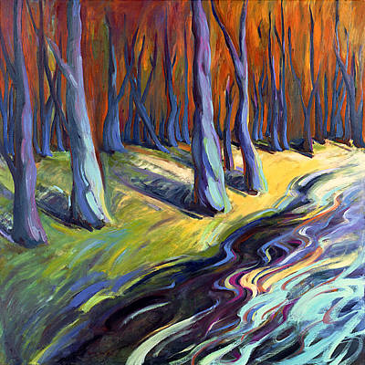 Painting - Blue Forest by Konnie Kim