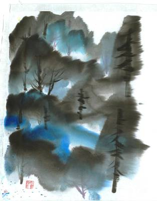 Blue Forest Art Print by Mui-Joo Wee