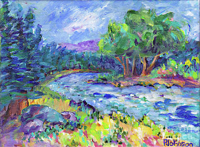 Painting - Blue Forest River By Peggy Johnson by Peggy Johnson