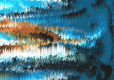 Oscar Wilde Digital Art - Blue Forest Shades by Alix Rumble