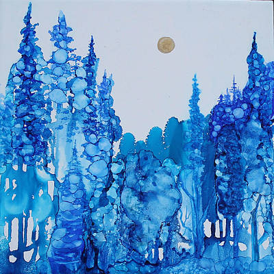Painting - Blue Forest by Suzanne Canner
