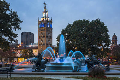 Photograph - Blue Fountain by Ryan Heffron