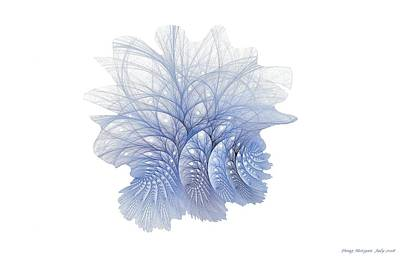 Digital Art - Blue Fractalberry Trees by Doug Morgan