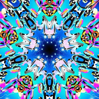 Digital Art - Blue Frequency by Derek Gedney