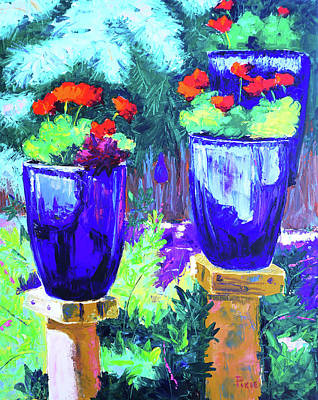 Painting - Blue Friends by Pixie Glore