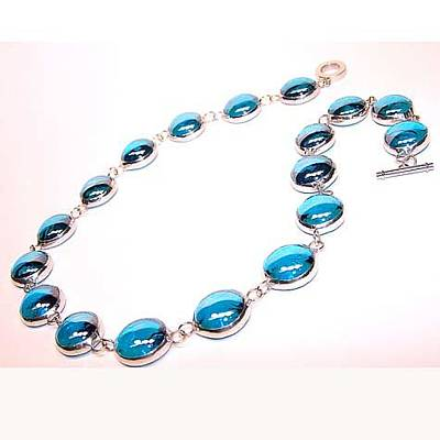 Nugget Necklace Jewelry - Blue From The Hampton Collection by Kelly DuPrat