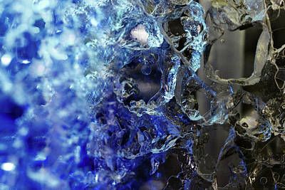 Photograph - Blue Fusion Abstract by Angela Murdock
