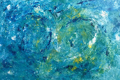 Painting - Blue Galaxy by Dorothy Maier
