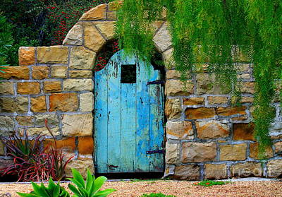 Gate Photograph - Blue Gate by Bill Keiran