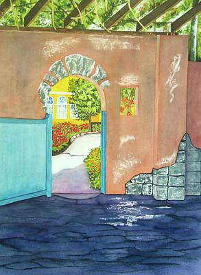 Wall Art - Painting - Blue Gate II by Terry Arroyo Mulrooney