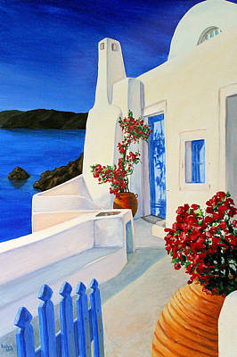 Stucco Painting - Blue Gate by Patrick Parker