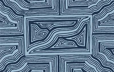 Blue Geo Art Print