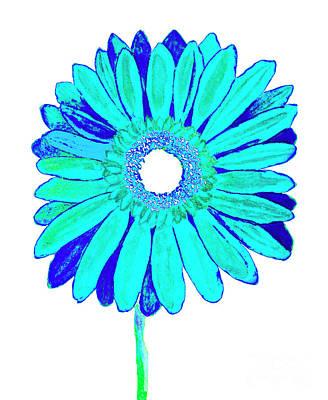 Painting - Blue Gerbera On White by Irina Afonskaya