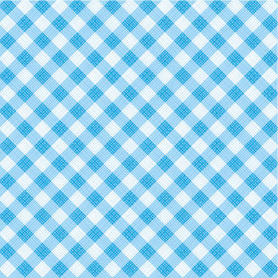 Blue Gingham Fabric Cloth Art Print by Natalia Ratselmeister
