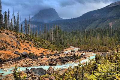 Photograph - Blue Glacial Creek by Adam Jewell