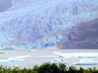Blue Glacier Print by Mindy Newman